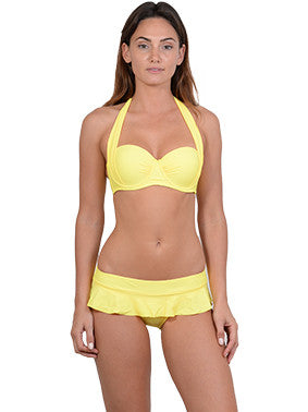 Summer Glow Halter Balconette Bikini Top in Sunshine