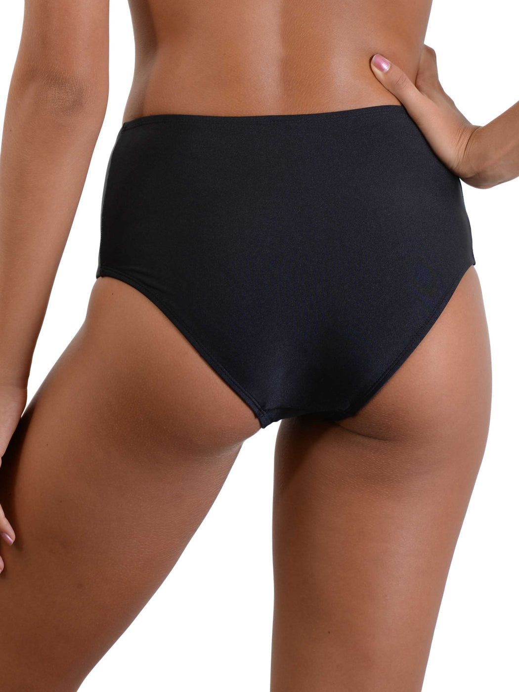 Back of Midnight Palm High Waist Bikini Pant