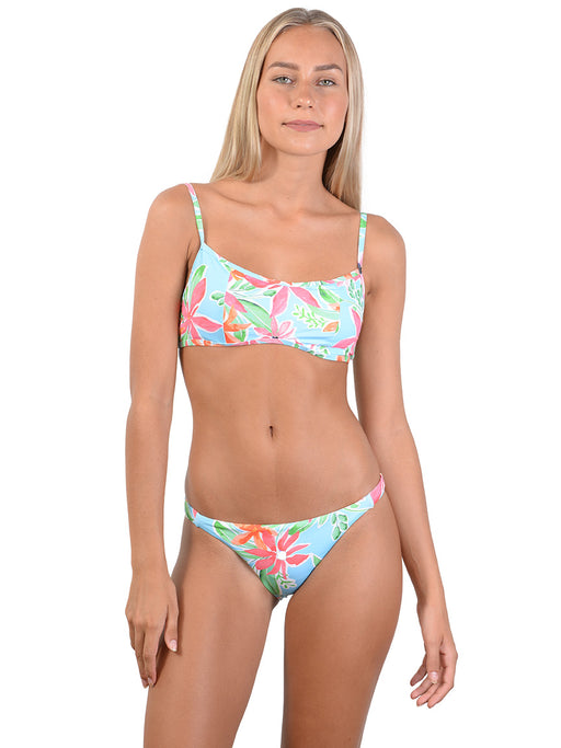 Paradise Sands B-C Underwire Bralette Bikini Top with Brazilian pant in Waterfall