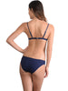 Back view of Santorini Bralette Bikini Top in Indigo with Hipster pant