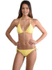 Santorini Tie Side Bikini Pant in Daisy with Triangle Top