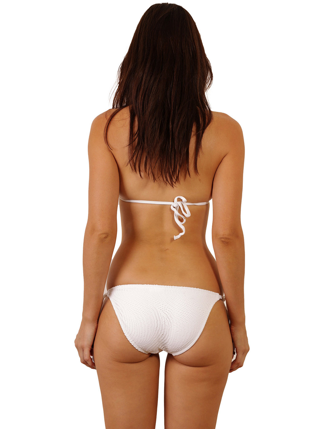 Back view of Santorini Triangle Top in White