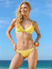 Finch Swim bikini bottom with tie sides, silver rings and cord end in Daisy colour