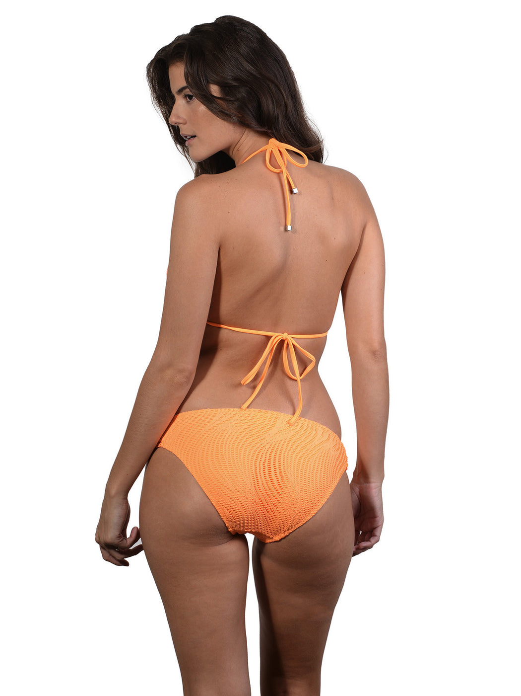Back view of Ruche Side Pant in Crush Santorini