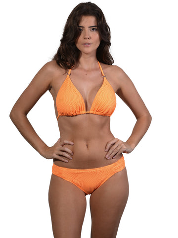 Ruche Side Pant in Crush Santorini with D-E Cup Trianlge Top by Finch Swim