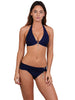 Finch Swim bikini top with tie back, removable cups, silver ring, jewel