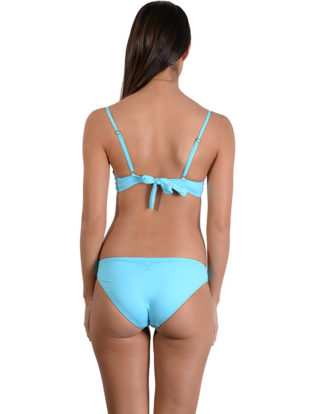 Back view of Seduce D/DD Moulded Underwire Bikini Top in Waterfall