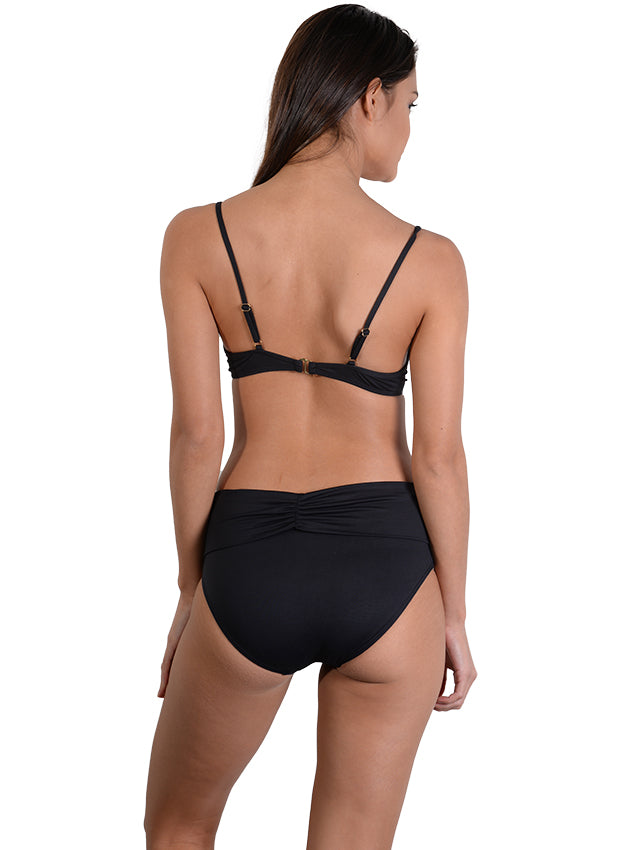 Back view of Seduce B/C Moulded Underwire Bikini Top in Black