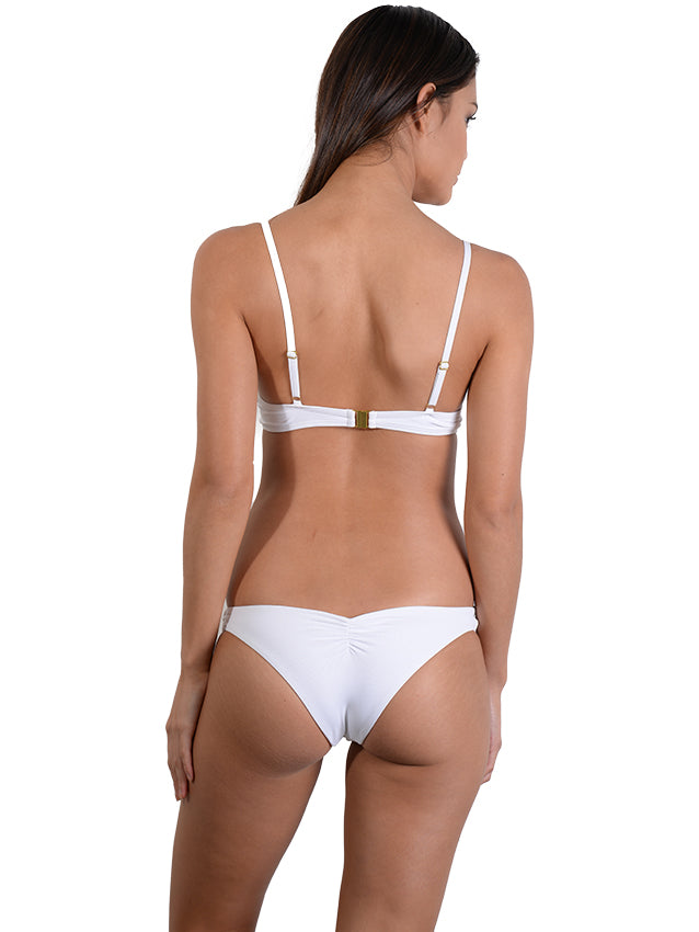 Back view of Seduce B/C Moulded Underwire Bikini Top in White