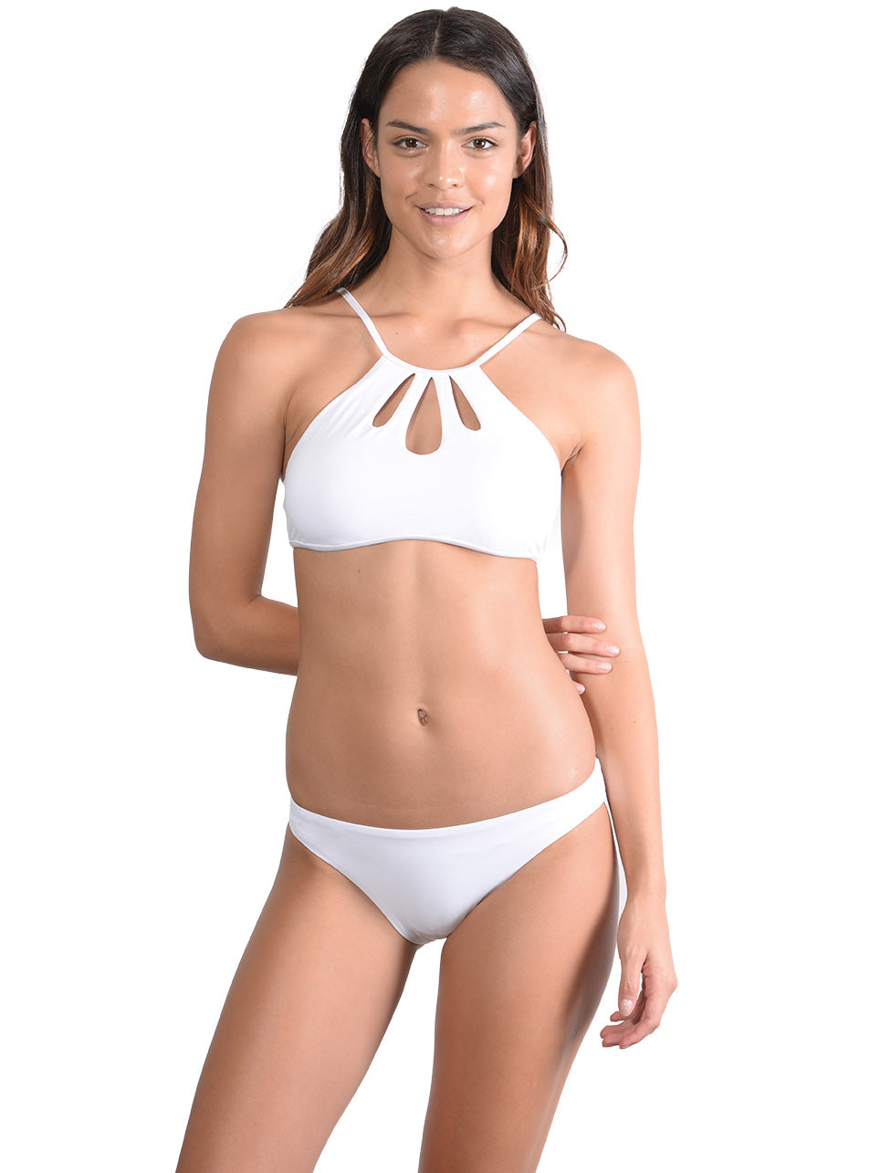 White Seduce Hipster Bikini Pant with Tear Drop top