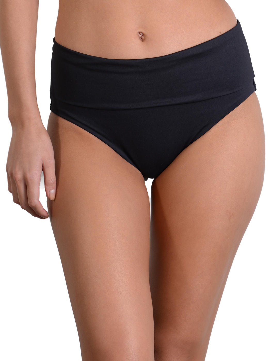 Black Seduce Ruched Full Banded Bikini Pant