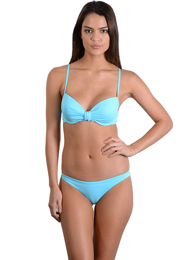 Waterfall Seduce B/C Moulded Underwire Bikini Top with Brazillian Pant