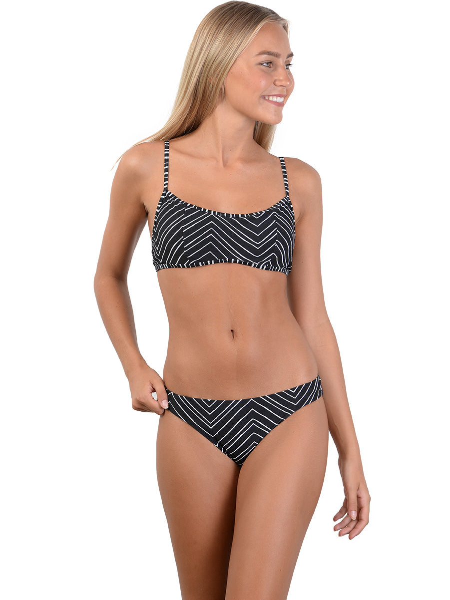 Sahara Ballet Underwire Bikini Top with Hipster pant in Black