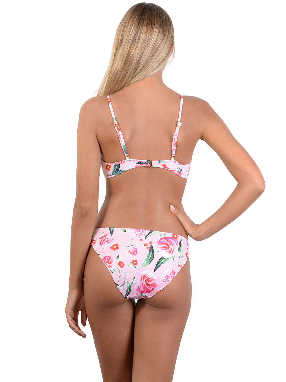 Back view of Summer Romance Hipster Bikini Pant in Blush