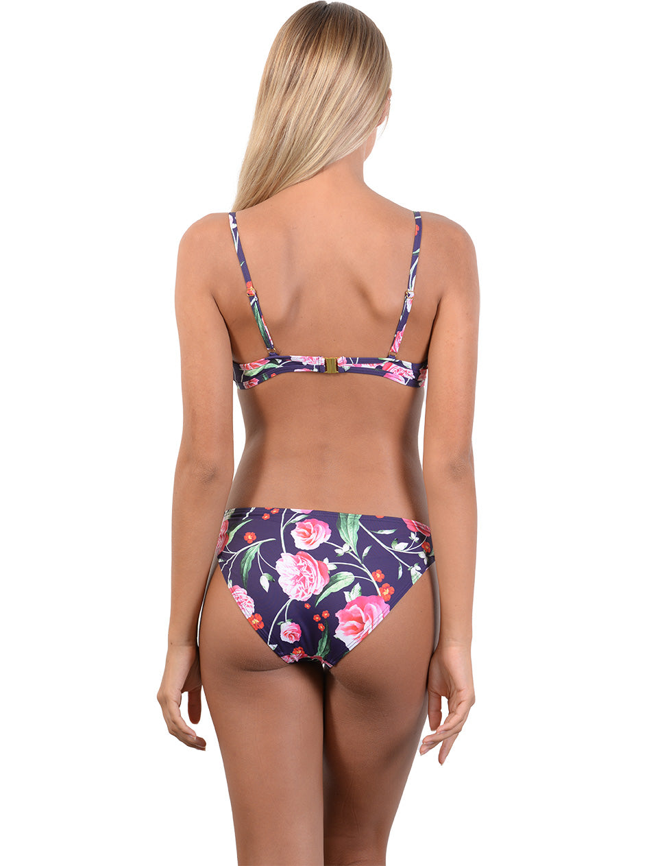 Back view of Summer Romance Hipster Bikini Pant in Indigo