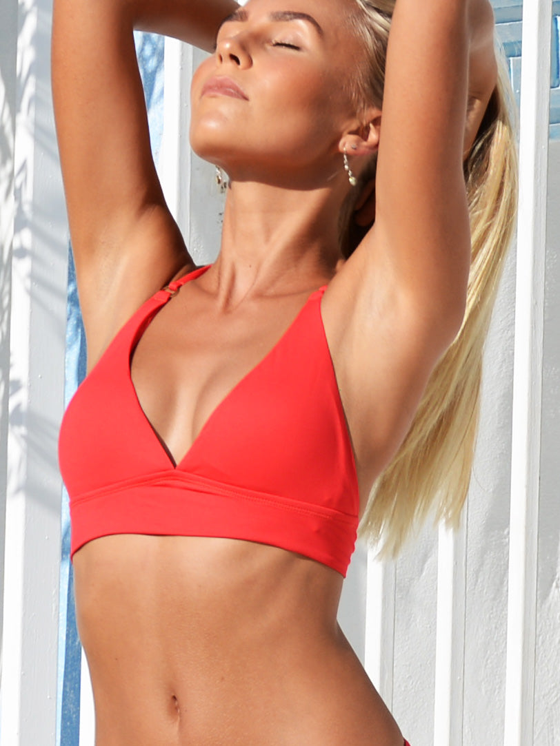 Chilli Seduce Cross Back Triangle Bikini Top
