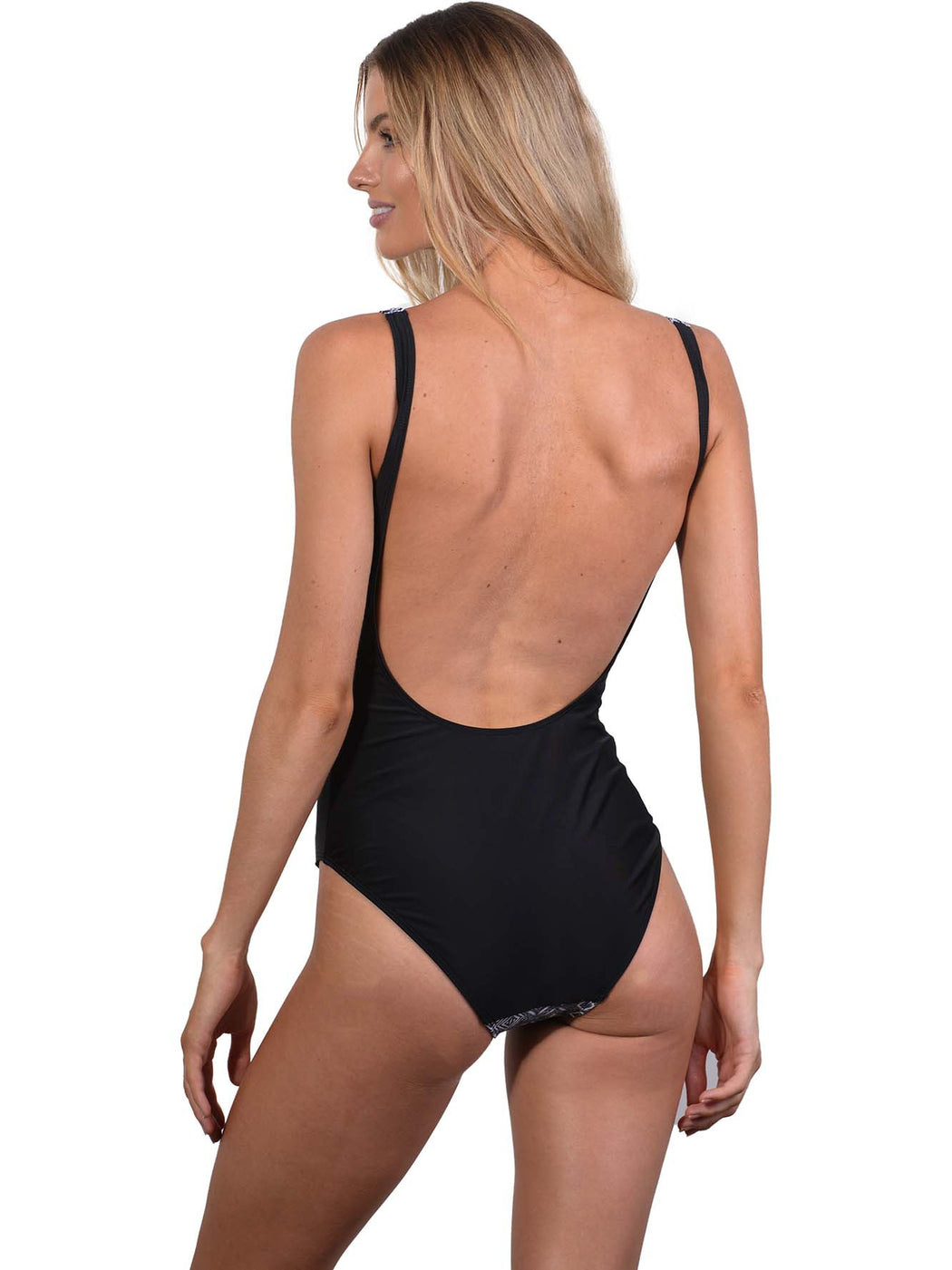 Zanzibar Zip-Front Onepiece by Finch Swim back view