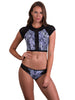 Zanzibar Splice Pant and Cropped Surf Top by Finch Swim front view - Size 10