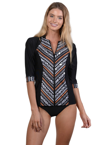 Zulu Zip-Front Surf Shirt by Finch Swim
