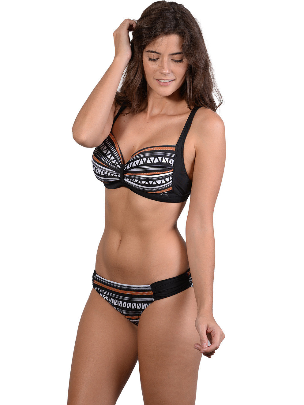 Side view of Zulu D-E Cup Bikini Top