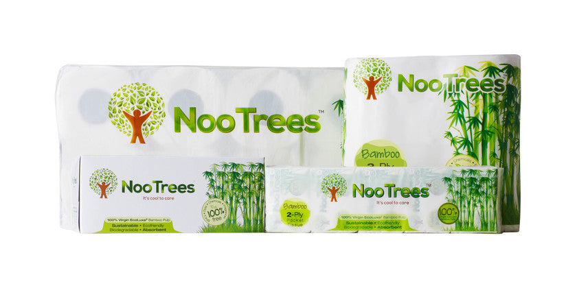 100% Bamboo Tissue paper products. A Greener answer to natures Call.