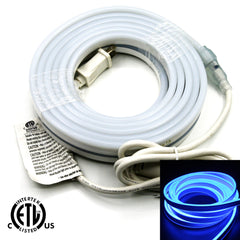 120V Flexible LED Neon Light - Double Side Lighted - Blue