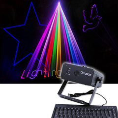 300mW RGB Text Laser Projector With Keyboard