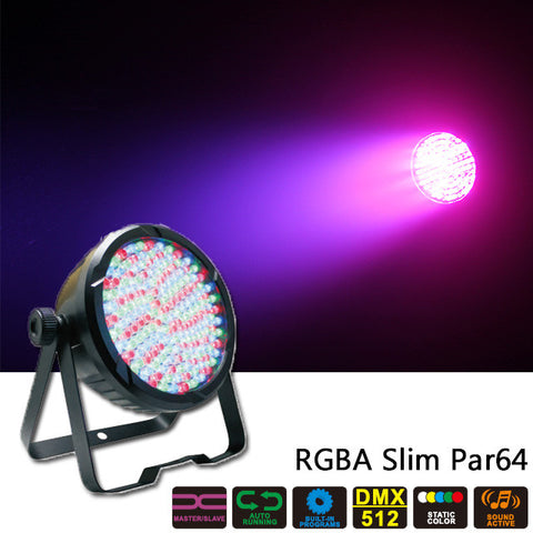 177 x 10mm LED Par 64 Can - RGBA Wash Light
