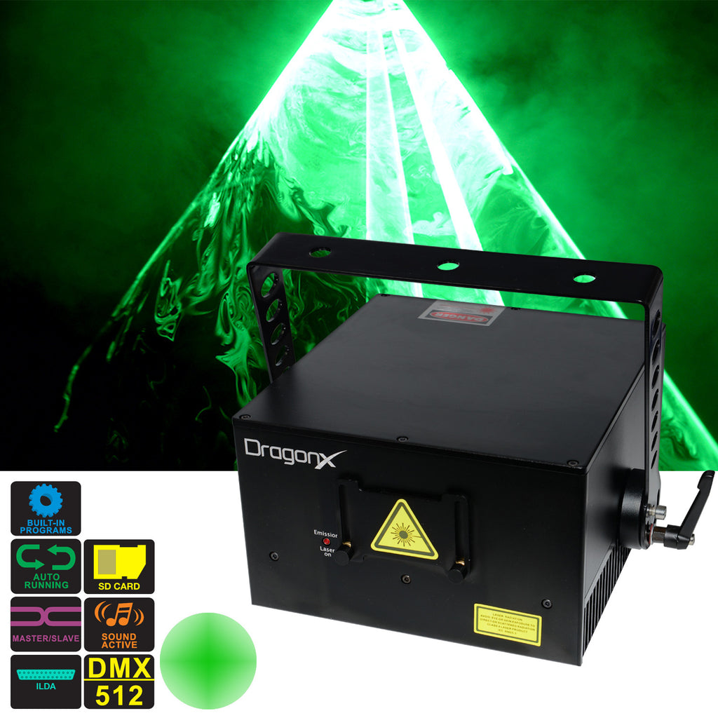 3W 520nm Green Laser light show projector