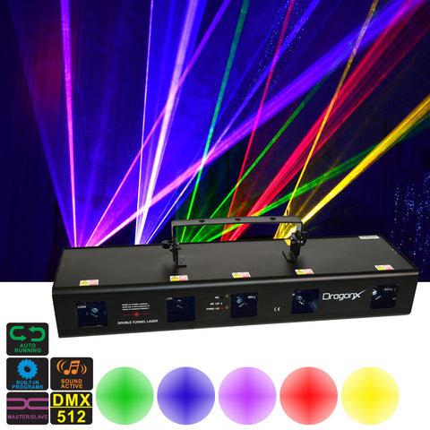 Jupiter 5 Lens DJ Lighting Laser RGBPY (Red Green Blue Purple Yellow) 920mW