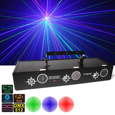 Jupiter 6 Ports Laser Stage Lighting System - Scan, Starfield, Firefly
