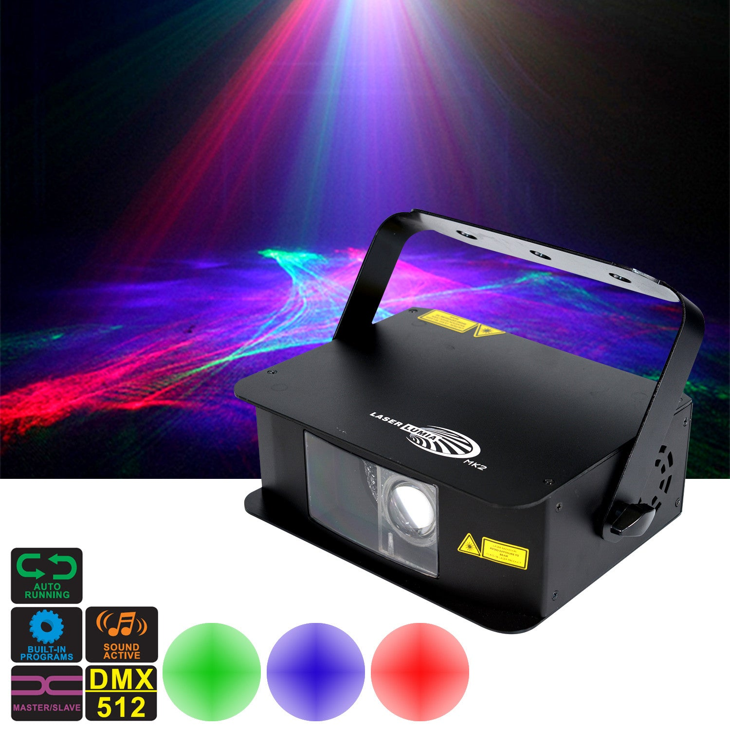 Lumia Laser - Liquid Sky Effect Aurora Red/Green Laser with Blue LED