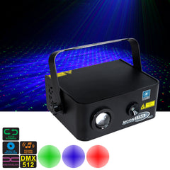 Holographic Laser Star Projector - Twilight Stars with Blue LED Wash