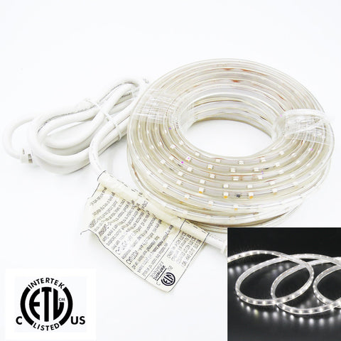 120V Flexible LED Tape Light - Retail Package 5M 10M - 6000K Cool White