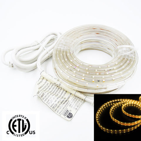 120V Flexible LED Tape Light - Retail Package 5M 10M - 3000K Warm White