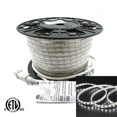 120V Flexible LED Strip Lights - Waterproof 6000K Cool White 164ft