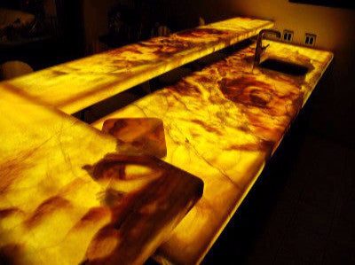 Backlit onyx countertops - Custom LED Light Panels