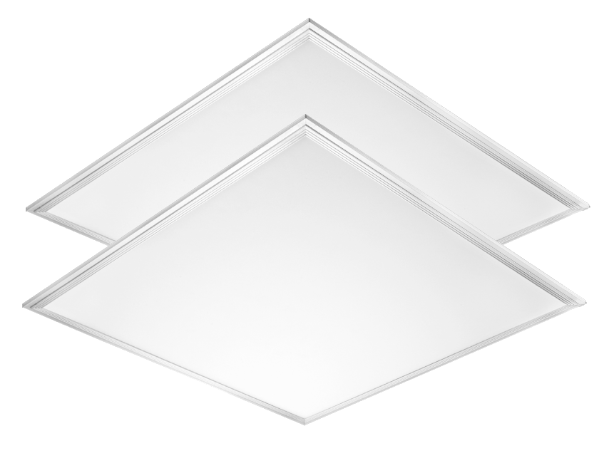 2x2 LED Edge-lit Flat Panel Troffer for Office Commercial Ceiling Lighting Fixture with Uniform 5000K 36W 3600 Lumens ETL certified-2Pack