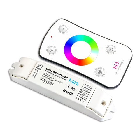Mini RGB Remote Controller w/ Wireless RF Touch Color Wheel