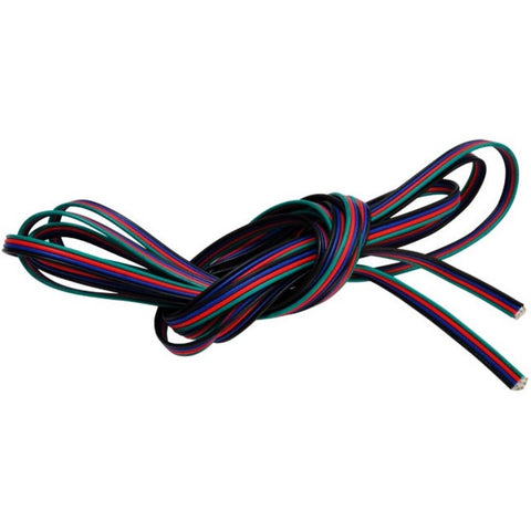 22 Guage RGB Connection Wire, Black+BGR - 20ft (6m)