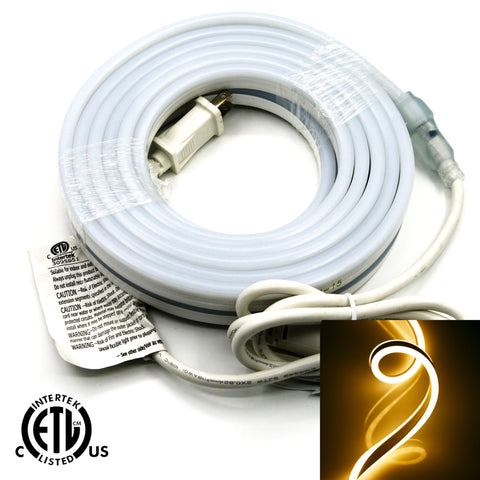 120V Flexible LED Neon Light - Double Side Lighted - Warm White