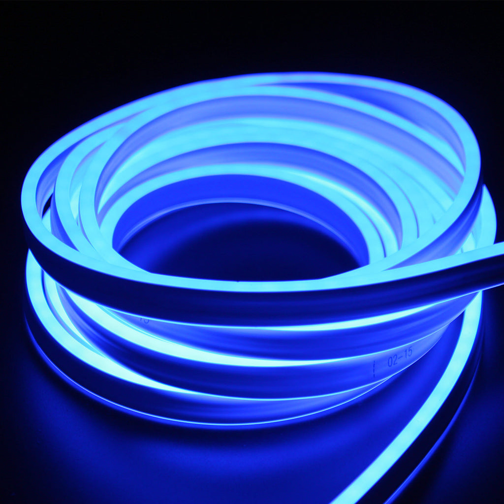 Blue Led Neon Light Ul Listed Double Side Lighted