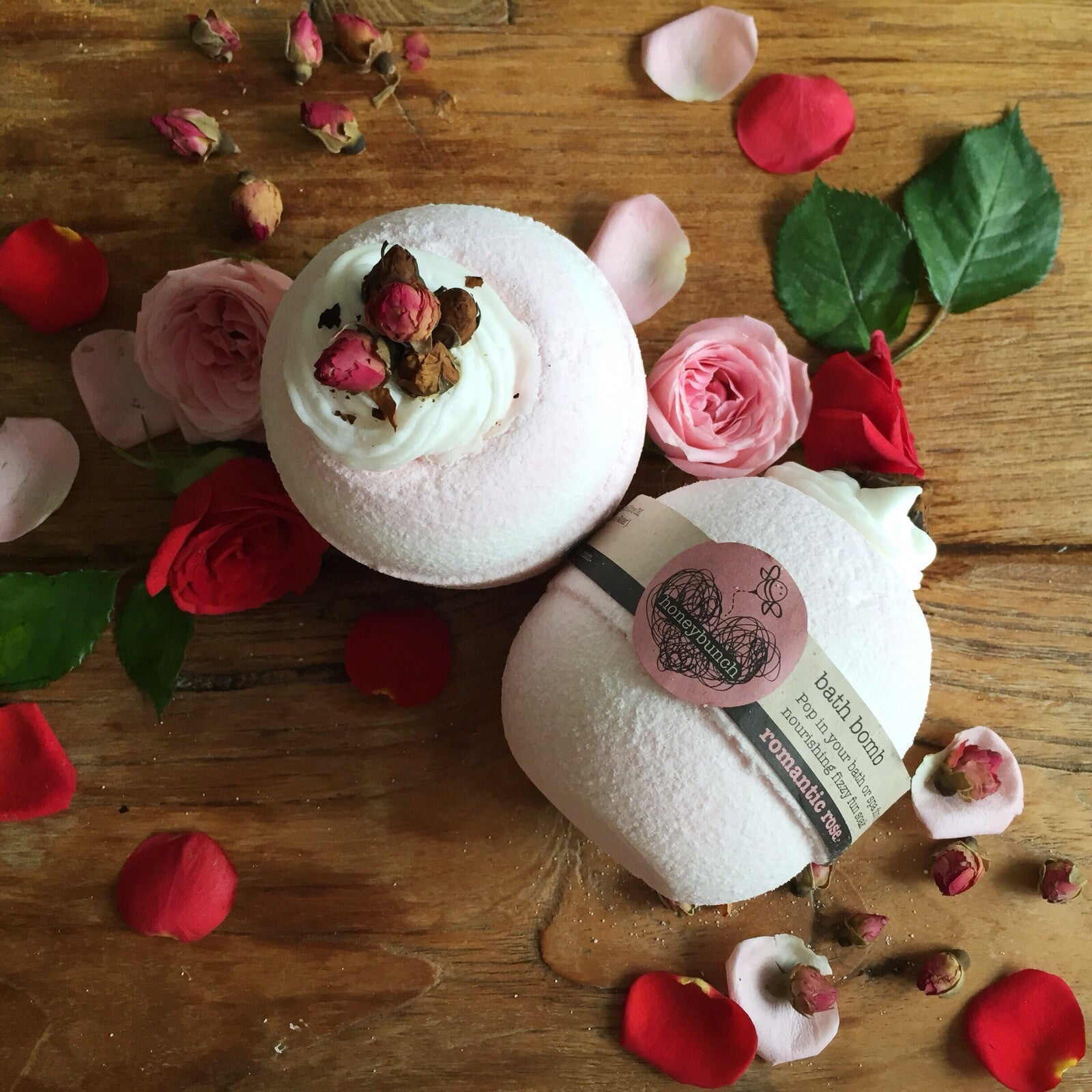 Romantic rose cocoa butter bath bomb