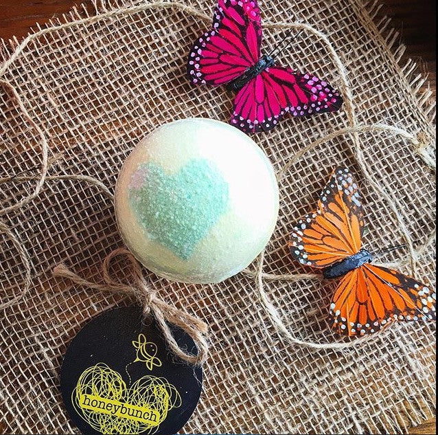 3 BIG beautiful cocoa butter bath bombs