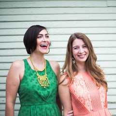 Ellie and Elizabeth of www.thinkliz.com ethical fashion blog