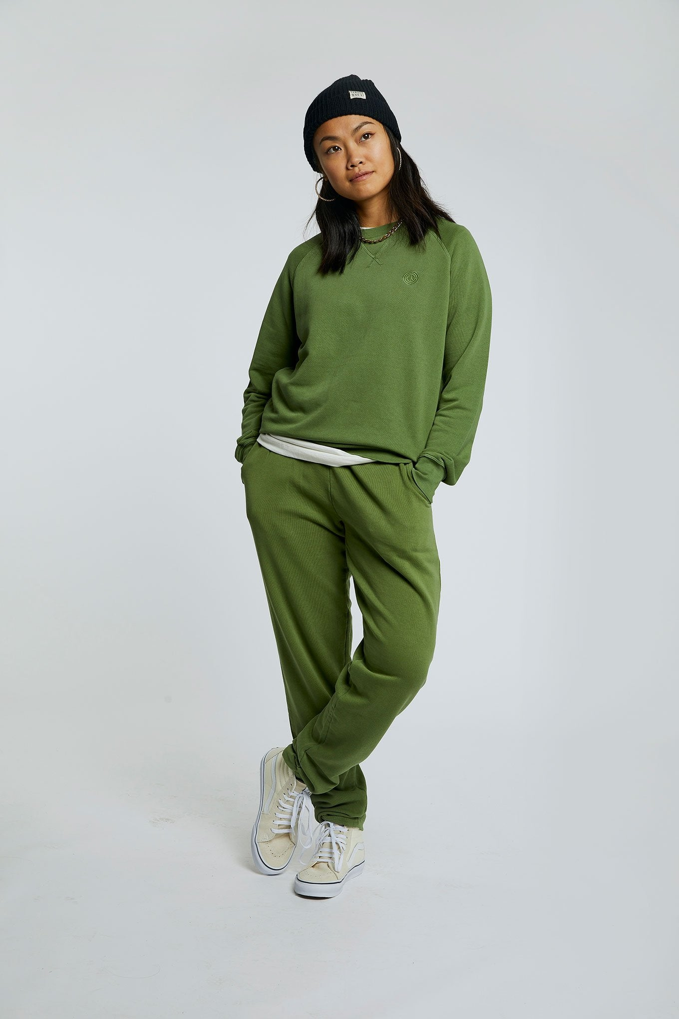 OLYMPIA Womens - GOTS Organic Cotton Jogger Olive