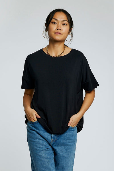 ANYA Bamboo Top Black