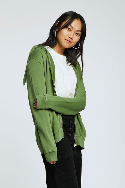 APOLLO Womens - GOTS Organic Cotton Zip Hoodie Olive
