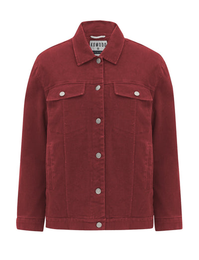 EVEL FLEECE Organic Cotton Jacket Dusky Cedar