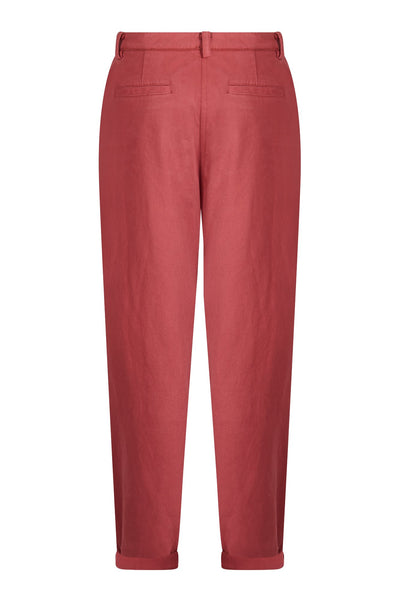 BOWIE Organic Cotton Trousers Dusky Cedar
